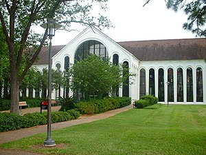 Religion in Houston - The A.D. Bruce Religion Center on the campus of the University of Houston. The Bruce Religion Center serves as a church, mosque, and synagogue for the university community. It is named after former university President A.D. Bruce.