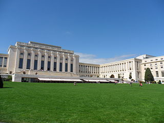 Palace of Nations Building in Geneva, Switzerland