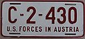 US-Forces-in-Austria USFA 1952 license plate C-2-430.jpg