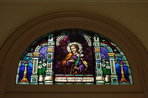 USA-San Jose-Cathedral Basilica of Saint Joseph-Front Stained-Glass Window-3