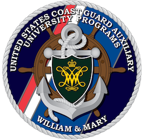 United States Coast Guard Auxiliary University Programs - The badge of the AUP unit at the College of William and Mary.
