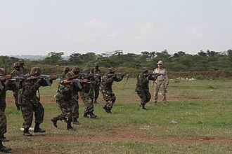 African Union Mission to Somalia (2007–present) - Ugandan troops training, 2012
