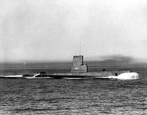 USS Croaker - Croaker (SSK-246), underway, c. mid-1950s.