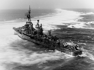 Pratas Islands - USS Frank Knox aground on Pratas Reef 1965