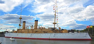 USS Olympia (C-6) - USS Olympia (C-6) at the Independence Seaport Museum in 2007.
