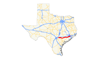 US 90A (TX) map.svg