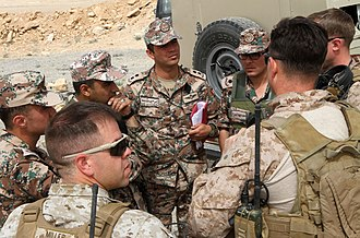 Timber Sycamore - US Marines and Jordanian Army soldiers collaborate in Amman, Jordan.