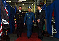 US Navy 070307-N-0555B-228 Commanding Officer Capt. Terry B. Kraft, USS Ronald Reagan (CVN 76), and Air Force Chief of Staff Senior Colonel Jiang Wei Min, People's Liberation Army, walk through the jet shop of the aircraft carr.jpg