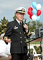 US Navy 071117-N-6357K-006 Capt. Mark D. Patton, commanding officer of Naval Base Point Loma, delivers the opening remarks for the celebration of the 84th birthday of Liberty Station, formerly know as Naval Training Center.jpg