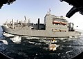 US Navy 100929-N-3729D-122 The Military Sealift Command dry cargo and ammunition ship USNS Sacagawea (T-AKE 2) conducts a replenishment at sea with.jpg
