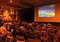 US Navy 110206-N-4135M-006 Sailors and Marines watch Super Bowl XLV between the Green Bay Packers and the Pittsburgh Steelers in the hangar bay abo.jpg