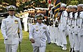 US Navy 110720-N-FC670-115 dm. Soeparno, right, Chief of Naval Staff, Indonesian navy, inspects the troops during a welcoming ceremony.jpg