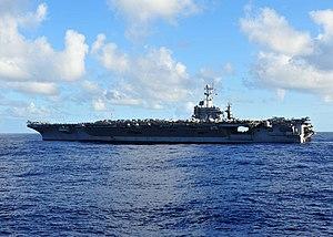 US Navy 120212-N-ED900-519 The Nimitz-class aircraft carrier USS John C. Stennis (CVN 74) is underway.jpg