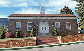 United States Post Office-Manitou Springs Main - Image: US Post Office Manitou Springs Main