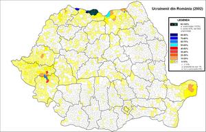 Ukrainians of Romania - Image: Ucraineni Romania 2002