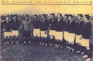 Unión Española - Unión Deportiva Española squad champion of the Asociación de Fútbol de Santiago in 1925