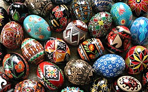 Resist dyeing - A mix of modern and traditional Ukrainian pysanky