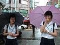 Ulsan (61) دو دختر دانش آموز در شهر اولسان در کره جنوبی.jpg