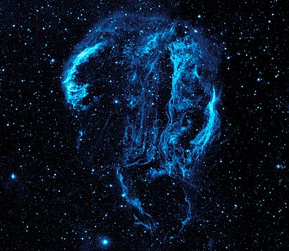 Ultraviolet image of the Cygnus Loop Nebula crop