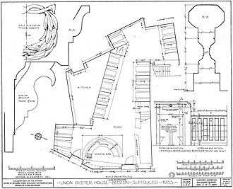 Union Oyster House - Image: Union Oyster House Floor Plan