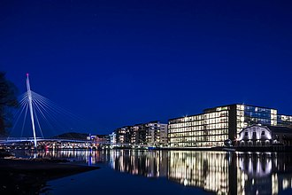 Drammen - Downtown Drammen by night