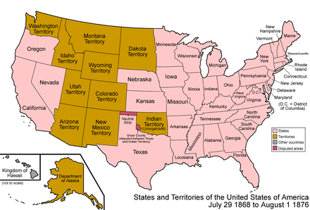 The United states from 1868 to 1876, including nine organized and two unorganized territories United States 1868-1876.png