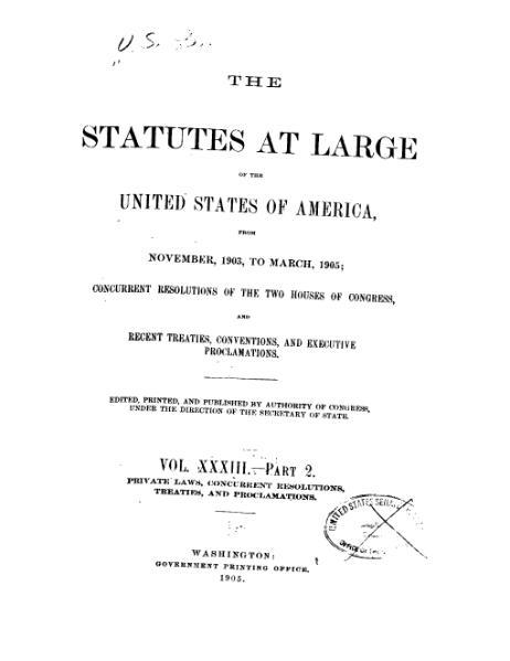 File:United States Statutes at Large Volume 33 Part 2.djvu