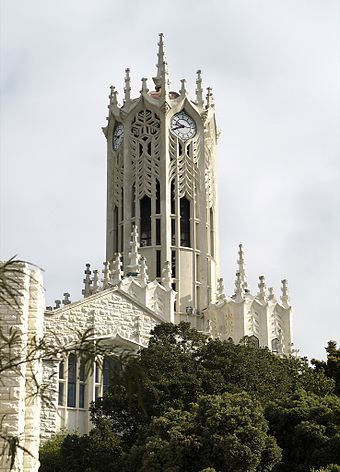 The University of Auckland clock tower building is a 'Category I' historic place, completed in 1926 University of Auckland Clock Tower.jpg