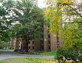 University of Massachusetts at Amherst dormitory in early autumn.JPG