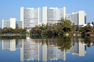 The United Nations Office in Vienna is one of the four major UN office sites worldwide. Uno City Kaiserwasser.jpg