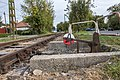Unused Budapest Local Railway section railroad switch.jpg