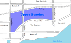 Map of Upper Beaches