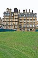 Urban garden and the Midland Hotel, Bradford.jpg
