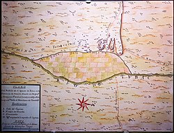 18th century map of Tubac and surroundings