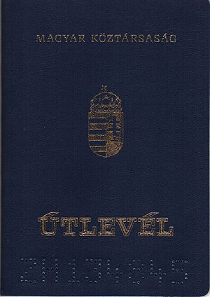 Hungarian passport - Image: Utlevelek