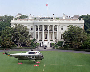 1987 in the United States - VH-3D landing on White House south lawn, July 1987
