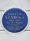 VIOLETTE SZABO. G.C. 1921-1945 Secret Agent lived here SHE GAVE HER LIFE FOR THE FRENCH RESISTANCE.jpg