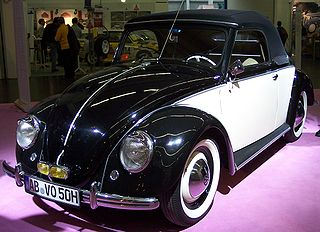Volkswagen Type 14A (Hebmüller Cabriolet) Motor vehicle