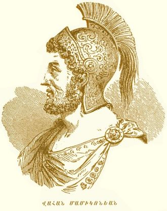 Sasanian Armenia - Illustration of Vahan Mamikonian.