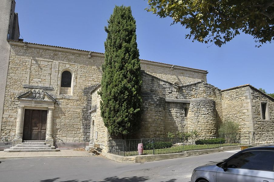 Vallabrègues, Kirche (Ausschnitt ohne Kirchturm)