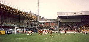 Bradford City stadium fire - Valley Parade after Bradford City's return in late 1986, but before further developments during the 1990s