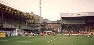 Valley Parade - Valley Parade during the early 1990s, after it had been redeveloped following the fire, but before further work at the end of the decade