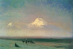 Valley of Mount Ararat by Ivan Aivazovsky (1882)