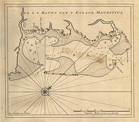 Dutch map of a coast of Mauritius