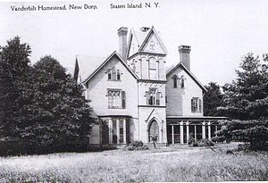 Midland Beach, Staten Island - William H. Vanderbilt's mansion in Woodland Beach, 1915