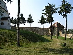 Walls of the fortified church