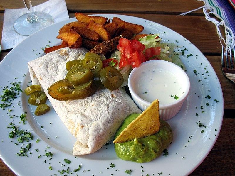 File:Veggie Burrito Nuremberg.jpg