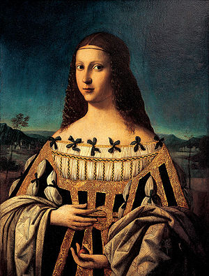 Saint Beatrice d'Este - Beatrice d'Este by Bartolomeo Veneto, 1510 (Snite Museum of Art)