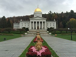 The Vermont State House, Montpelier's best-known landmark