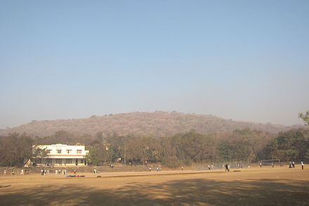 Vetal hill, a prominent hill in Pune. Elevation c. 800 m Vetal tekdi.jpg
